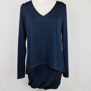 White House Black Market Ladies Blue Dress Size S